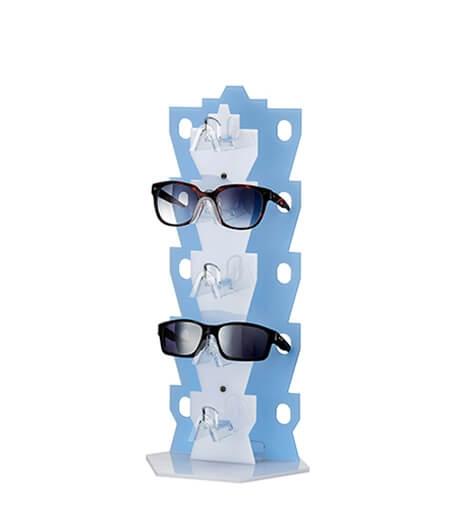 桌上型造型眼鏡架(藍)