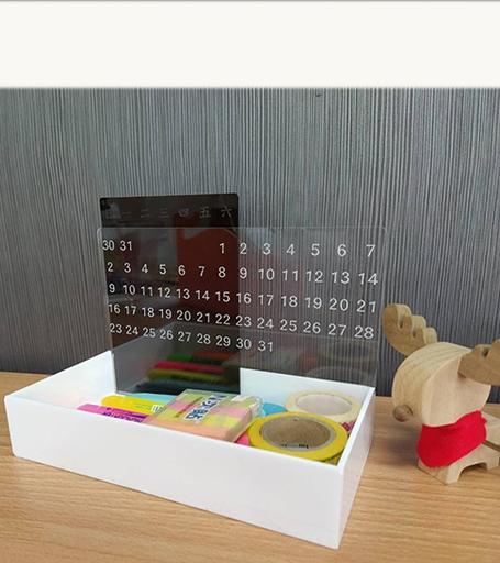 Acrylic Calendar Organizer